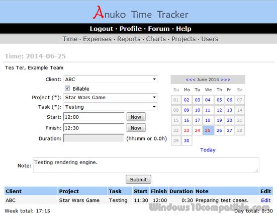Anuko Time Tracker 1 8 Free download